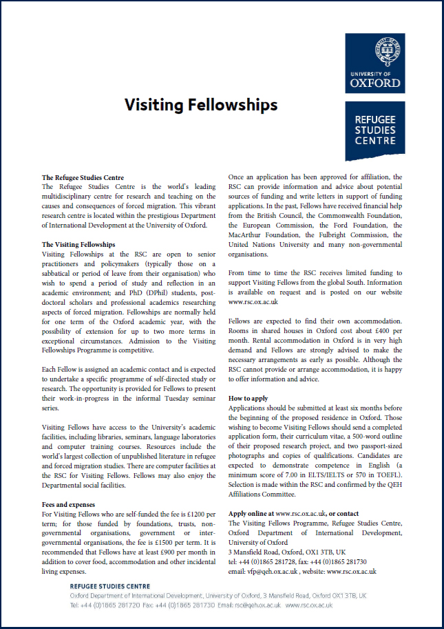 Visiting Fellowships